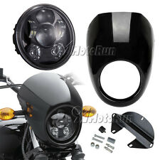 "5-3/4"" LED Daymaker Projector Headlight +Fairing For Harley Dyna Sportster XL"