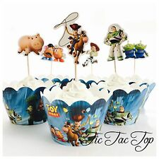 12 Toy Story Cupcake Topper + 12 Wrapper. Lolly Loot Bag Party Supplies Buzz