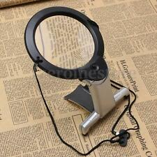 2.5X100MM NECK HUNG OR FREE STANDING HANDS MAGNIFIER MAGNIFYING GLASS LED LIGHTS