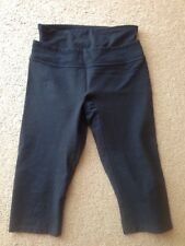 SPANX COMPRESSION KNEE PANTS BLACK sz S YOGA FITNESS WORKOUT EUC