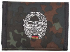 german army Panzer Tank camo flecktarn  Men's Nylon Bifold Velcro Wallet purse