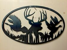 DEER Turkey METAL ART WOODLAND WILDLIFE RUSTIC LODGE MOUNTAIN CABIN WALL DECOR