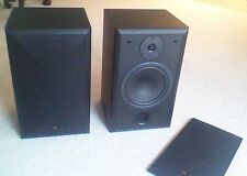 Acoustic Research Speakers AR -206 HO Black Bookshelf Excellent Condition