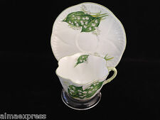 "SHELLEY ENGLAND BONE CHINA ""13822 - LILY OF THE VALLEY"" TEA CUP & SAUCER SET"