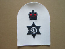 Stores Accountant Unbound Crown Royal Navy Trade Branch Woven Cloth Patch Badge