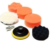 "7pcs 3"" Car Auto Buffing Pad Polishing Wheel Kit M10 Drill Adapter Wool Ball New"