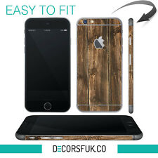 Brown Wood iPhone 6 wrap skin - iphone skins - covers for iphone