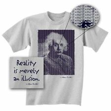 EINSTEIN E=MC2 REALITY IS MERELY AN ILLUSION T SHIRT EXTRA-LARGE NEW W/ TAGS