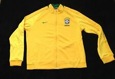 Mens Nike Brazil CBF Authentic N98 Yellow Jacket Style 727809 Size XL