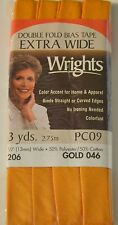 "Wrights Bias Tape Double Fold--1/2""x3yds - 13 Colors - Your Choice of One"