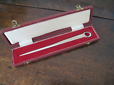 LARGE CASED HALLMARKED SOLID SILVER 'MEAT SKEWER' LETTER OPENER - 1968 - 57.4g