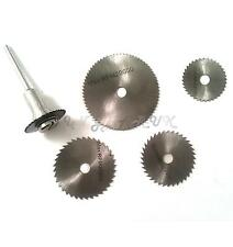6pc HSS Circular Saw Blade Disc Set Hobby Rotary Tool Mandrel Shank Drill Dremel