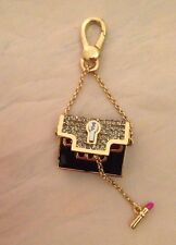 Juicy Couture Gold Black Crystal Evening Handbag Charm NIB