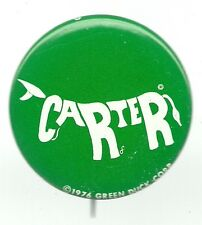 DIFFERENT JIMMY CARTER DONKEY LETTERS PIN BUTTON