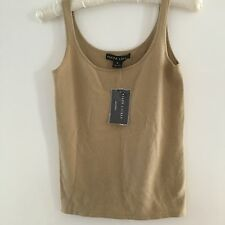 Ralph Lauren Ladies 100% Cashmere Camel Sleeveless Jumper