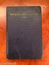 The Bluejackets' Manual 1940 United States Navy 10th Edition Illustrated STENCIL