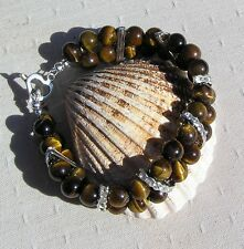 "Gold Tigers Eye Crystal Gemstone Bracelet ""El Dorado"""