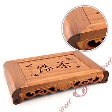 Graceful Chinese Wood Gongfu Tea Vessel Table Serving tray w/t Catcher 39*22cm