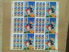 Sc# 3306  uncut press sheet of sixty stamps Daffy Duck 1999 no plate #