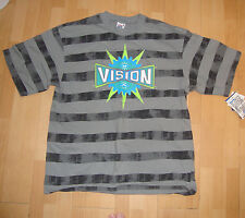 VISION STREET WEAR '80s All Over Stripped Skateboard Tee Shirt