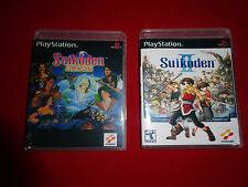Empty Replacement Cases!  - Suikoden 1 and 2 Sony PlayStation 1 PS1 PSX