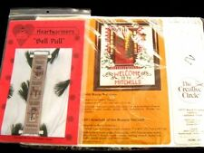 2 Christmas Kits Creative Circle Warm Welcome Picture Heartwarmers Bell Pull