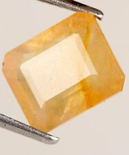 Certified Yellow Sapphire 6.90 Ct. Emerald Cut Loose NICE Natural Gemstone J-848
