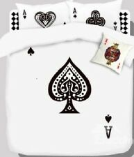 Queen Size Blackjack Poker Cards Duvet Cover Bedding Set Unique Fun