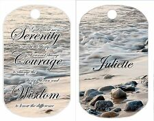 Personalized dog tag serenity prayer courage wisdom peace faith hope gift idea