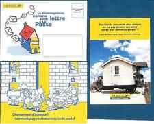 PTT - LA POSTE 3 cartes Changement d'adresse, code postal, DGP/DAC/ITP Périgueux