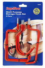 Brand New Set of 6 Storage Hooks - Ideal for garage and shed