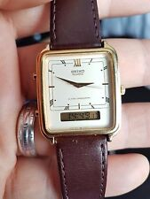 VINTAGE Seiko Dual Time Analogico & DIGITALE CHONOGRAPH Giappone WATCH