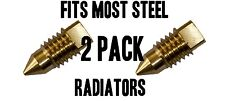 Radiator BLEED SCREW AIR / VALVE VENT - BRASS 2 PACK