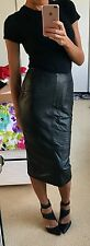 Stunning Topshop sell out REAL LEATHER runway high waist midi pencil skirt 8!!