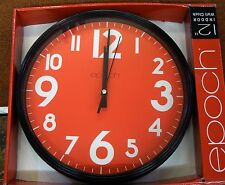 "EPOCH  12"" WALL CLOCK- RED DIAL"