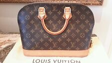GENUINE LOUIS VUITTON MONAGRAM ALMA HANDBAG WITH DUSTBAG & PADLOCK GOOD COND