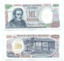 CHILE NOTE 1000 ESCUDOS (1967-76) SERIAL A10 P 146 UNC