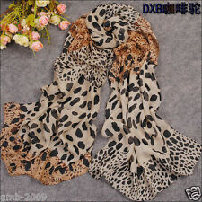 Large Korean Fashion Lady Joker Leopard Grain Chiffon Long Soft Scarf
