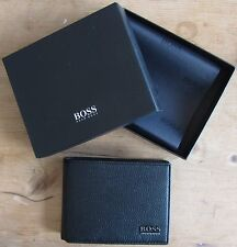 Hugo BOSS Men's Black Leather Wallet 'Monad', Tri-fold, New Style 50261709
