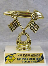 "SMALL 3 1/2"" BOY SCOUT PINEWOOD DERBY AWARD TROPHY"
