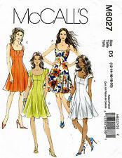 McCall's Misses' Petite Dresses Pattern M6027 Size 12-20 UNCUT