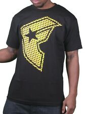 Famous Stars & Straps Men's Black/Yellow Reflector BOH Badge T-Shirt Small NWT