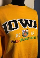 CHAMPION Iowa HAWKEYES 2010 FedEx ORANGE BOWL Sweatshirt Size M COLLEGE FOOTBALL