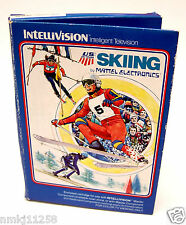 OLD COMPUTER VIDEO GAME 1980 SKIING MATTEL INTELLIVISION #1817 ORIGINAL BOX