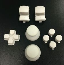 White controller Full Mod Thumbs Trigger Buttons Set Kit for PS3 Playstation 3
