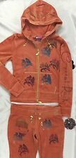 Crystal Rock Christian Audigier Hoodie NO ELASTICITY Orange CRW116 Size L