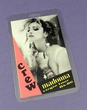 Madonna Original Backstage Crew Pass - Virgin Tour 1985/6- Unused Stock !