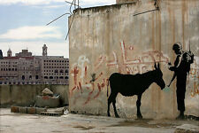 Soldier With Donkey 18x12 Print Poster by Famous Artist Bansky