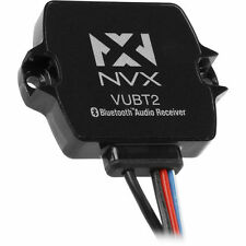 NVX VUBT2 Universal Waterproof Bluetooth Receiver for Car/Motorcycle/ATV/Boat