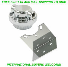 EMPI 9091 - CHROME FUEL PRESSURE REGULATOR & BRACKET VW DUNE BUGGY BUG GHIA PART